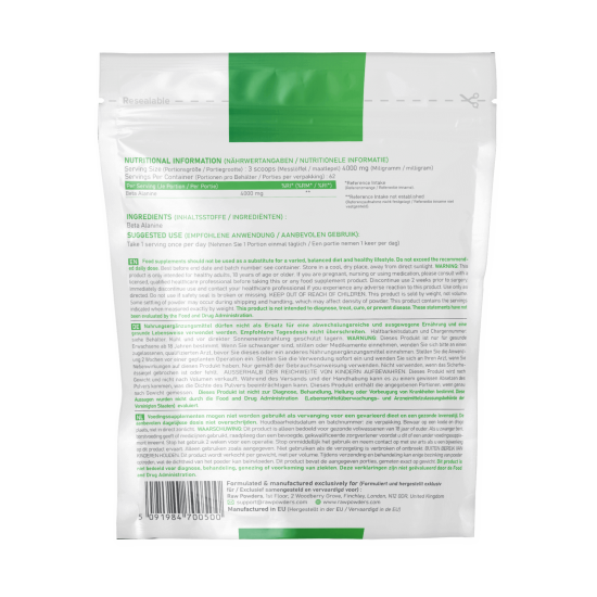 Beta Alanine Powder 250 grams