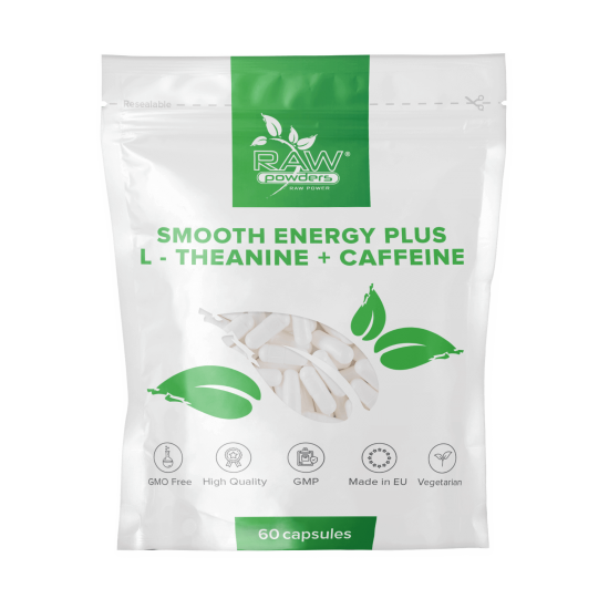 Smooth Energy Plus (L-theanine + Caffeine) 60 Capsules