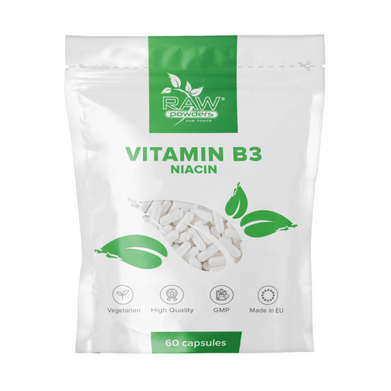 Vitamin B3 (Niacin) 500mg 60 Capsules